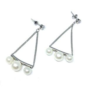 Jewelry - Stainless Steel Faux Pearl Dangle